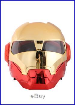 Masei Iron Man Full Open Face Motorcycle Helmet with visor Plating Golden Red #