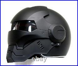 Masei Matt Black Atomic-Man 610 Open Face Motorcycle Helmet
