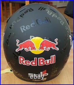 Matt Black Open Face Motorsport Redbull helmet XL New & Unused NOT STILO