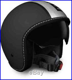 Momo Blade Black Silver Road bike Open face Motorcyle Motorbike Size L