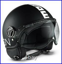 Momo Fgtr Fighter Open Face Matte Black Cool Scooter Helmet Size Xs S M ML L XL