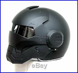 Motorcycle Helmet Half Helmet Open Face Helmet Black Iron Man Motocross Helmet