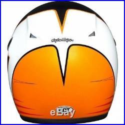 Motorradhelm Troy Lee Designs Open Face Mert Lawwill Orange Schwarz (XL) #1372 J