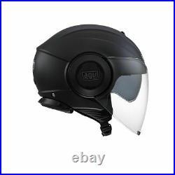 NEW AGV Fluid City Open Face Scooter Moped Helmet Matte Black
