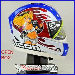 NEW Open Box Icon Alliance GT Glory Full Face Motorcycle Helmet Large 010111186