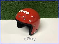 NEW Vintage 1980's ECKO BMX HELMET Open Face RED Medium ECHO NOS Bike Collection