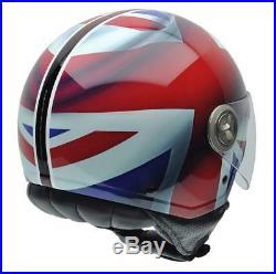 NZI 490004G332 3D Vintage II Union Jack Open Face Motorcycle Helmet, British XL