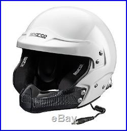 New! 003349 Sparco AIR PRO RJ-5i Carbon Open Face Race Rally Helmet SNELL FIA