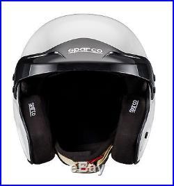 New! 003353 Sparco PRO RJ-3 Open Face Race Rally Helmet White SNELL FIA HANS