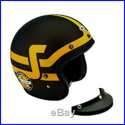 New Bell Ducati Short Track Open Face Helmet L 59-60 Black/Yellow #981030855