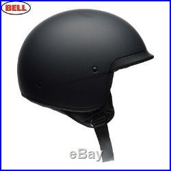 New Bell Scout Air Open Face Motorcycle Helmet Matt Black