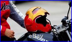 New Iron Man Motorcycle Helmet Masei Open Face Half Helmet High Quality 2018