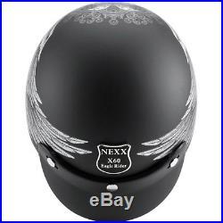 Nexx SX60 Eagle Rider Black Open Face Motorcycle Motorbike Helmet All Sizes