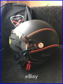 Nexx SX60 Vintage Black / Orange Motorcycle Open Face Helmet XXL 2XL