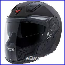 Nexx X40 Matt Black Convertible Open Face Motorcycle Touring Helmet All Sizes