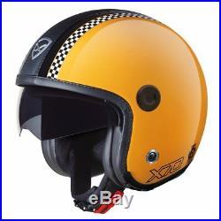 Nexx X70 Freedom Retro Yellow Open Face Motorcycle Crash Helmet Sunvisor 2XL