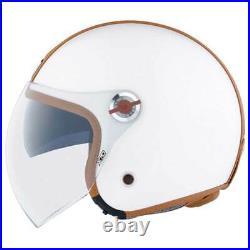 Nexx X. 70 Groovy White / Camel Open Face Motorcycle Motorbike Helmet