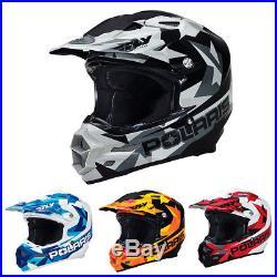 OEM Polaris Fly F2 Fractal Carbon Fiber Open Face Offroad Helmet XS-5XL