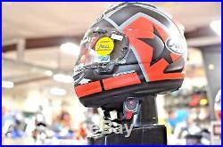 OPEN BOX Arai Corsair-X Vinales Full Face MC Street Helmet Black Red Gray MD