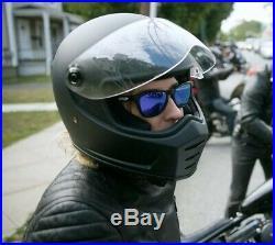 OPEN BOX Biltwell Matte Black Lane Splitter Full Face Motorcycle Helmet Large L