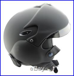 OPEN FACE MOTORCYCLE HELMET OSBE GPA AIRCRAFT TORNADO BLACK S 55-56 cm