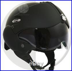 OPEN FACE SCOOTER HELMET OSBE GPA AIRCRAFT TORNADO MATT BLACK S 55-56 cm