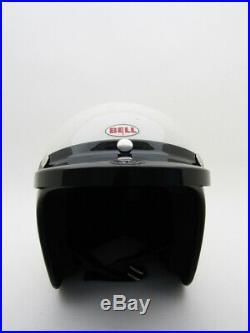 ORIGINAL VINTAGE BELL SUPER MAGNUM Motorcycle Car OPEN FACE HELMET Racing 7 5/8