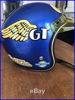 Old School Vintage Open Face Bmx Moto Helmet GT Bmx