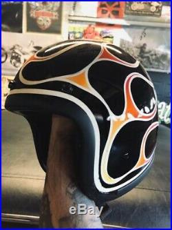 Old school 3/4 open face helmet w custom paint sportster tt&co biltwell fulmer