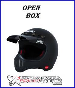 Open Box Simpson Retro M50 Matte Black MC Full Face Helmet 5 Snap Visor XL