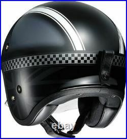 Open Face Helmet Shoei J. O Hawker Jet Road Bike Motorcycle Black Lid FREE P&P