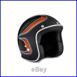 Open Face Metal Flakes Black Scallops 70's Helmets Bike Helmet Bobber Chopper M
