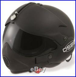 Open Face Scooter Motorcycle Helmet Osbe Gpa Aircraft Tornado Matt Black + Mask