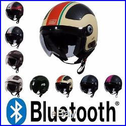 fccfc370 ... 2018 Origine Pilota O528B Blinc Bluetooth 3/4 Open Face Motorcycle  Scooter Helmet DOT