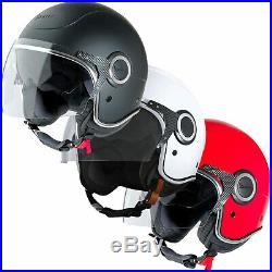 Piaggio Vespa VJ Open Face Scooter Helmet with Clear Full & Tinted Short Visor
