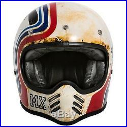 Premier MX Btr 8 Bm Matt Retro Vintage Design Open Face Helmet Rrp £359.99