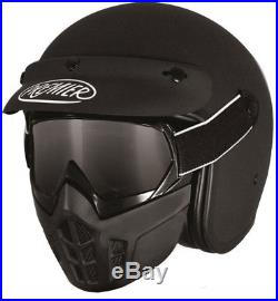 Premier Vintage Helmet Mask Google Motorbike Motorcycle Open Face Scooter SALE