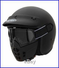 Premier Vintage U9BM Mask Open Faced Motorcycle Motorbike Helmet Removable Mask