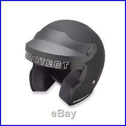 Pyrotect ProSport Open Face Helmet SA2015 Flat Black Car Auto Kart Racing