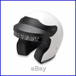 Pyrotect ProSport Open Face Helmet SA2015 White Car Auto Kart Racing