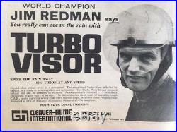 RARE VINTAGE TURBO VISOR HELMET Half Open Face British Graham Hill F1 Racing