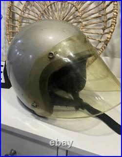 RARE Vintage 1960's BELL MAGNUM SILVER Open Face HELMET Motorcycle TOPTEX 6 7/8