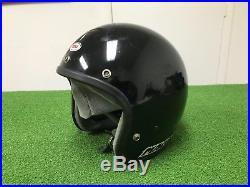 RARE Vintage 1980's BELL MAGNUM LTD Open Face MOTORCYCLE HELMET BLACK 7 1/2 60