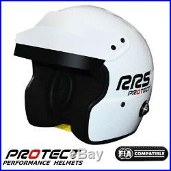 RRS PROTECT JET helmet open face SNELL SA2015 FIA 8859-2015 HANS rally white