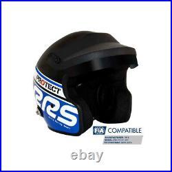 RRS Protect Open Face Helmet Fia 8859-2015 Blue and Black XXL