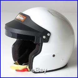 RaceQuip 252113 Helmet OPEN FACE SA 2010 MEDIUM WHITE