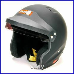 RaceQuip 256003 OF20 Open Face Helmet Snell SA-2020 Rated Gloss Black Medium