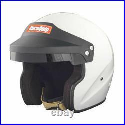 RaceQuip 256113 OF20 Open Face Helmet Snell SA-2020 Rated Gloss White Medium