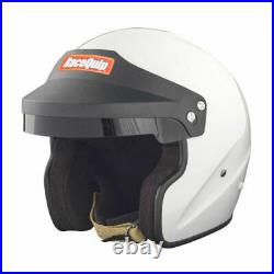 RaceQuip 256116 OF20 Open Face Helmet Snell SA-2020 Rated Gloss White X-Large