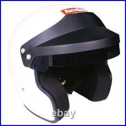 Racequip Helmet 256115 OF20 Large Open Face Gloss White Snell SA2020